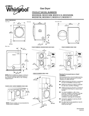 Whirlpool WGD9250W Dimensions And Installation