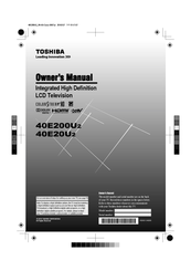 Toshiba 40E200U2 Owner's Manual