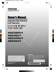 toshiba 40g300u1 owner s manual pdf download rh manualslib com Operators Manual Owner's Manual