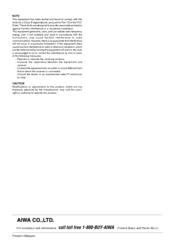 aiwa av d57 manuals rh manualslib com Aiwa Home Stereo Systems D57 Dance