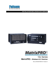 FOLSOM Matrix-PRO HD-SDI Installation And Operator's Manual