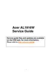 acer al1916w ab manuals rh manualslib com acer al1916 service manual acer al1916w manual service