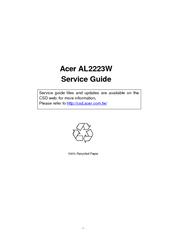 Acer AL2223W h Manuals