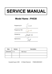 Acer PH530 series Service Manual