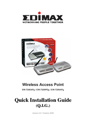 Edimax EW-7209APg Quick Install Manual