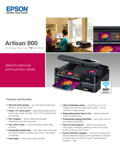 Epson Artisan 800 - All-in-One Printer Specifications