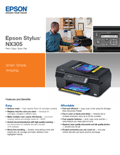 Download Driver: Epson Stylus NX305 Scanner