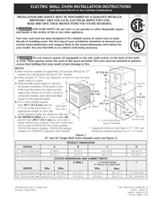 Frigidaire Fpew2785kf 27 Quot Single Electric Wall Oven Manuals
