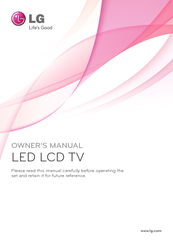 LG 32LW57 Series Owner's Manual