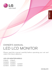 LG E1960T Owner's Manual