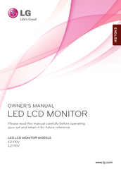 lg e2370v monitor service manual download