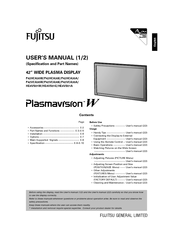 Fujitsu Plasmavision HE4VS01WH User Manual