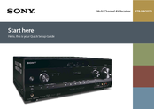 Sony STR-DN1020 Quick Setup Manual