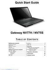 gateway nv75s manuals rh manualslib com Gateway NV Series Problems Gateway FX-Series