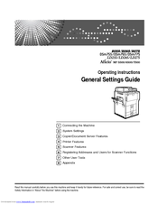 Gestetner DSm755 General Settings Manual