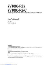 Gigabyte 7VT880-RZ User Manual