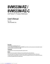 gigabyte 8vm533m rz user manual pdf download rh manualslib com placa mãe gigabyte 8vm533m-rz manual placa mãe gigabyte 8vm533m-rz manual