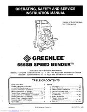 greenlee 555sb manuals rh manualslib com Greenlee 555 Bender Manual greenlee 555 sbc manual