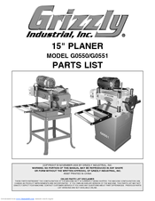 Grizzly G0550 Parts List