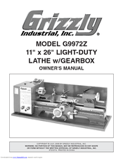 Grizzly G9972Z Owner's Manual