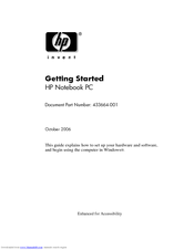 HP 530 - Notebook PC Getting Started Manual