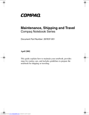 HP Compaq Presario,Presario X6110 Maintenance Manual