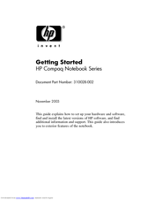HP Compaq nc6230 Getting Started Manual