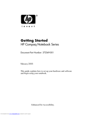 HP Compaq nc6230 Getting Started