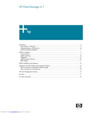 HP Compaq nc6230 New Features Manual