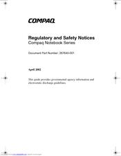 HP Compaq nc6230 Product Support Bulletin