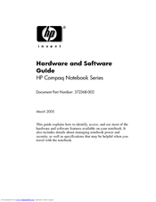 HP Compaq nx8200 Hardware And Software Manual