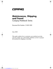 HP Compaq Presario,Presario 2146 Maintenance Manual