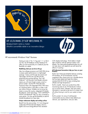 HP 2730p - EliteBook - Core 2 Duo 1.86 GHz Specifications