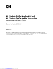 HP EliteBook 8440W Maintenance And Service Manual
