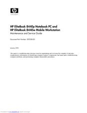 hp elitebook 8440p manuals rh manualslib com 8460P Keyboard hp 8460p maintenance and service guide