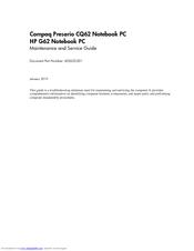 HP G62-373 MAINTENANCE AND SERVICE MANUAL Pdf Download