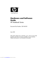 HP Pavilion DV1010 Hardware And Software Manual