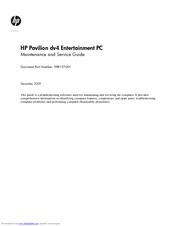 hp pavilion dv4 2100 entertainment notebook pc manuals rh manualslib com hp pavilion dv4 service manual pdf hp pavilion dv4-2145dx service manual