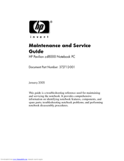 HP Pavilion zd8000 - Notebook PC Maintenance And Service Manual