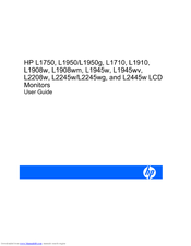 Pdf-2562] hp l2445w monitors owners manual | 2019 ebook library.