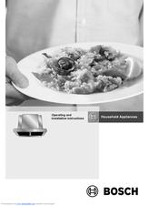 Bosch cooker hood manuals.
