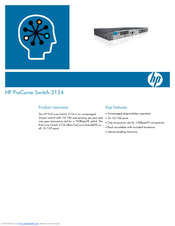HP ProCurve 2124 Product Overview