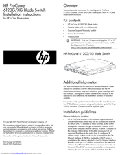 HP ProCurve 6120XG Installation Instructions