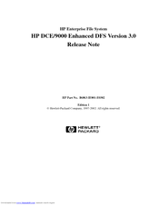 HP c3700 - Workstation Release Note