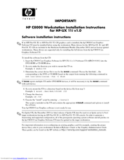 HP C8000 - Workstation - 0 MB RAM Software Installation Manual