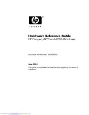HP Compaq d230 MT Hardware Reference Manual