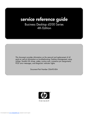 HP Compaq d240 MT Reference Manual
