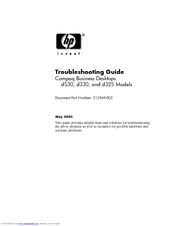 HP dc5000 - Microtower PC Troubleshooting Manual