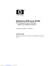 HP D530 - Compaq Business Desktop Hardware Reference Manual
