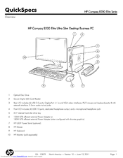 HP COMPAQ ELITE 8200 CMT SPECIFICATIONS Pdf Download
